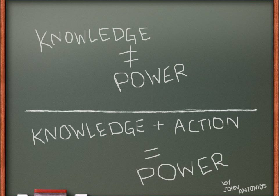 Knowledge is no longer Power