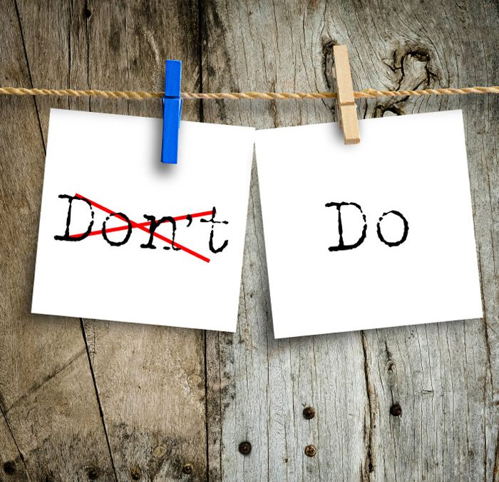 A not to do list and why you should have one